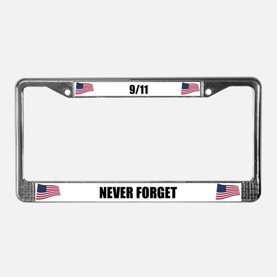 Never Forget 9/11 License Plate Frame