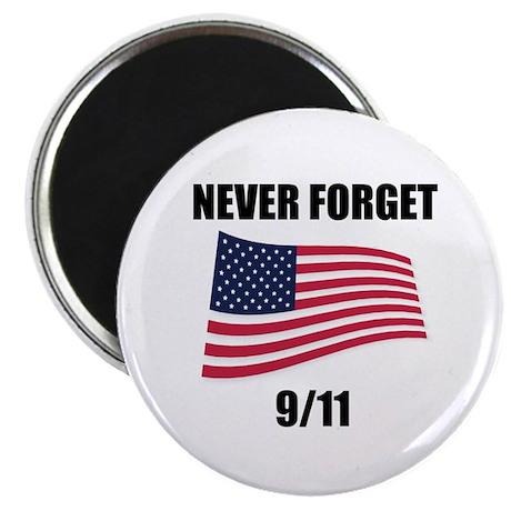 "Never Forget 9/11 2.25"" Magnet (10 pack)"
