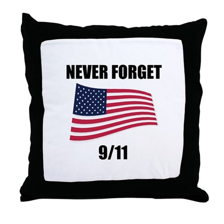 Never Forget 9/11 Throw Pillow