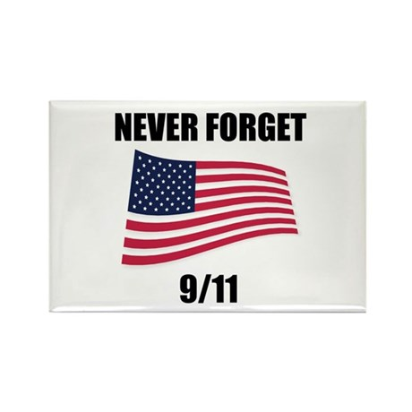 Never Forget 9/11 Rectangle Magnet