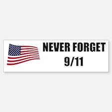 Never Forget 9/11 Bumper Bumper Bumper Sticker