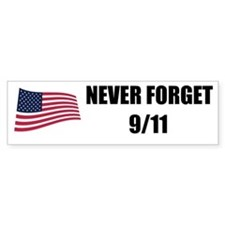 Never Forget 9/11 Bumper Bumper Sticker