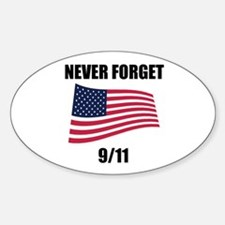 Never Forget 9/11 Oval Decal
