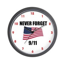 Never Forget 9/11 Wall Clock