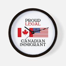 Canadian Immigrant Wall Clock