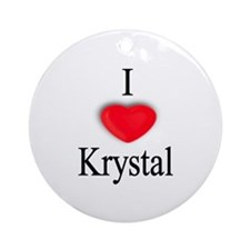 Krystal Ornament (Round)