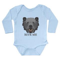 Bite Me Bear Long Sleeve Infant Bodysuit