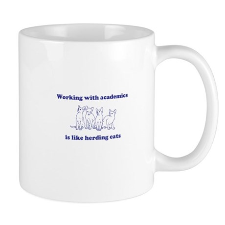 Working with academics is like herding cats Mug
