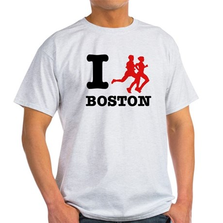 I run Boston Light T-Shirt