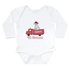 'Lil Fireman Long Sleeve Infant Bodysuit