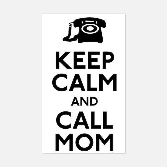Keep Calm and Call Mom Sticker (Rectangle)