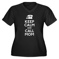 Keep Calm and Call Mom Women's Plus Size V-Neck Da