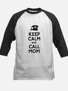 Keep Calm and Call Mom Kids Baseball Jersey