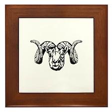 Ram's Head symbol Framed Tile