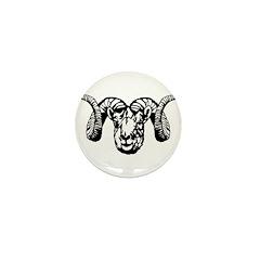 Ram's Head symbol Mini Button (10 pack)