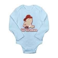 Lil Baby Fire Fighter Long Sleeve Infant Bodysuit
