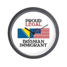 Bosnian Immigrant Wall Clock
