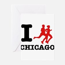 I run chicago Greeting Cards (Pk of 10)