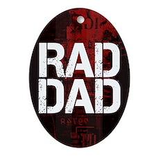 Rad Dad Ornament (Oval)