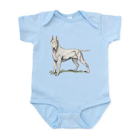 Bull Terrier Portrait Infant Bodysuit