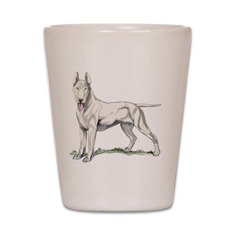 Bull Terrier Portrait Shot Glass