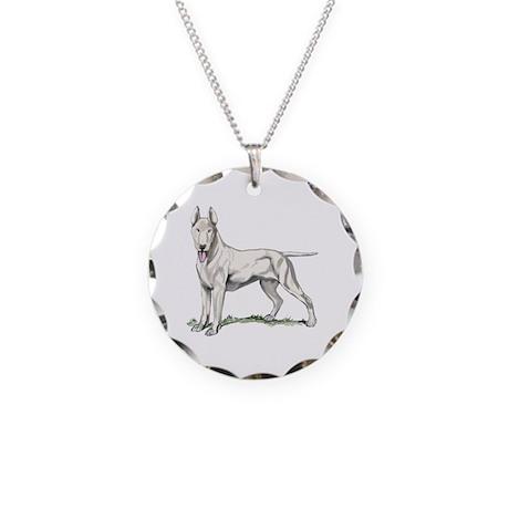 Bull Terrier Portrait Necklace Circle Charm