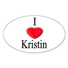 Kristin Oval Decal