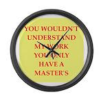 phd joke Large Wall Clock