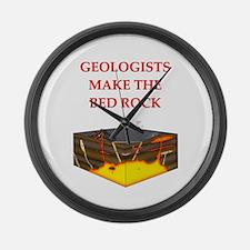 i love geology Large Wall Clock