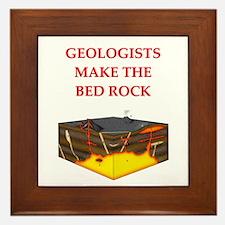 i love geology Framed Tile