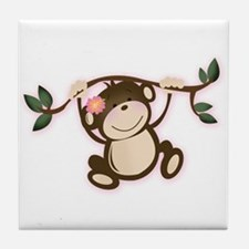 Monkey Play Tile Coaster
