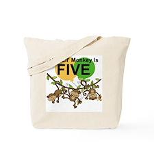 Swinging Monkeys 5th Birthday Tote Bag