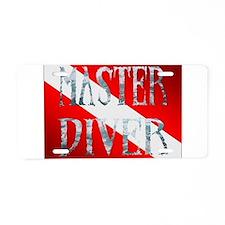 Master Diver Aluminum License Plate