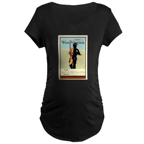 Travel West Virginia Maternity Dark T-Shirt