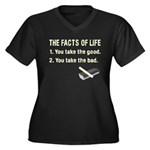 The Facts of Life Women's Plus Size V-Neck Dark T-