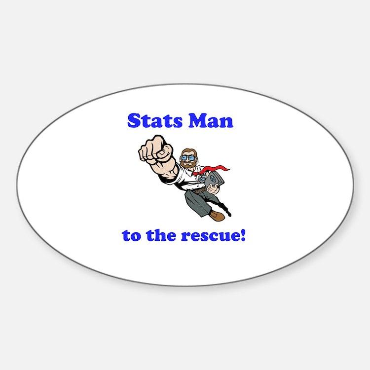 Stats Man Sticker (Oval)
