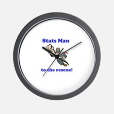 Stats Man Wall Clock