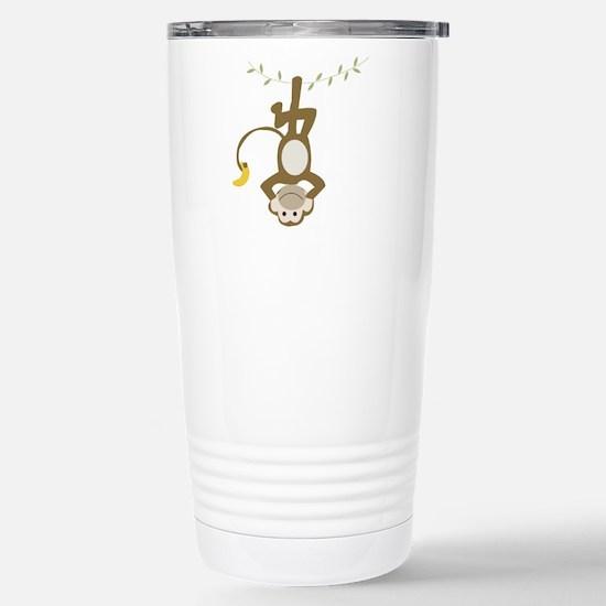 Monkey Around Stainless Steel Travel Mug