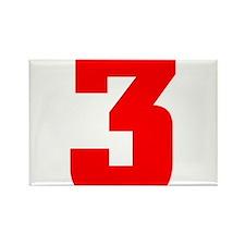NUMBER 3: WE'VE GOT YOUR NUMB Rectangle Magnet
