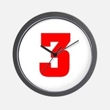 NUMBER 3: WE'VE GOT YOUR NUMB Wall Clock