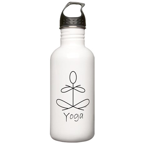 Yoga Glee in White Stainless Water Bottle 1.0L