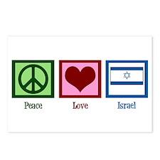 Peace Love Israel Postcards (Package of 8)