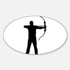Cute Bowhunter Sticker (Oval)