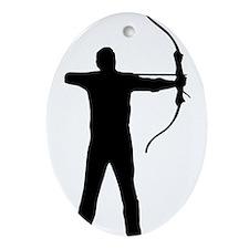 Cute Archery arrow Ornament (Oval)