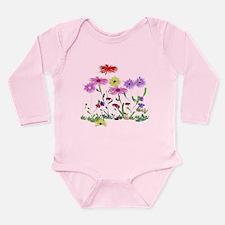 Flower Bunches Long Sleeve Infant Bodysuit