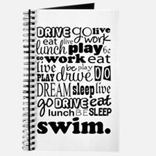 Swim Sports Quote Funny Journal