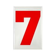 lucky seven Rectangle Magnet (100 pack)