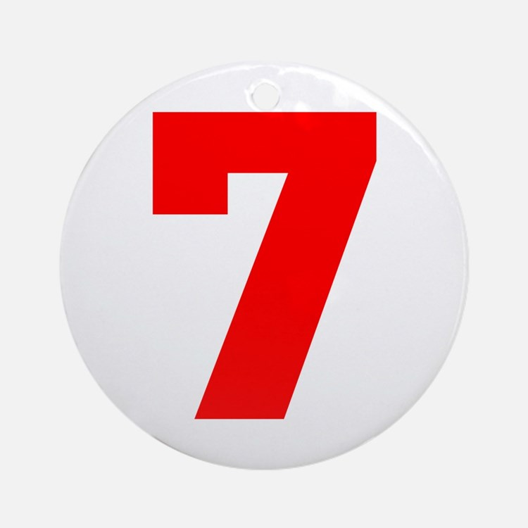 lucky seven Ornament (Round)