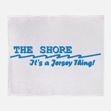 NJ The Jersey Shore Throw Blanket