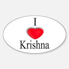 Krishna Oval Decal